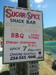 Jost Van Dyke restaurant sign
