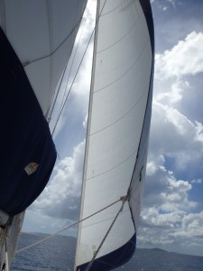 Sailing back to Red Hook, St. Thomas